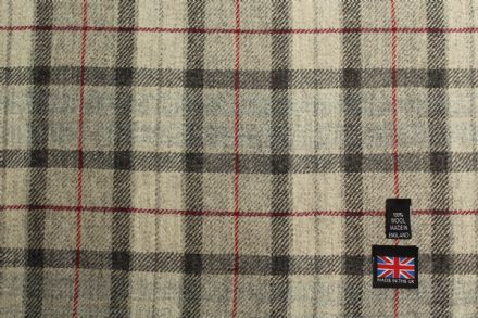 Shetland Tweed Plaid Fabric BZ80